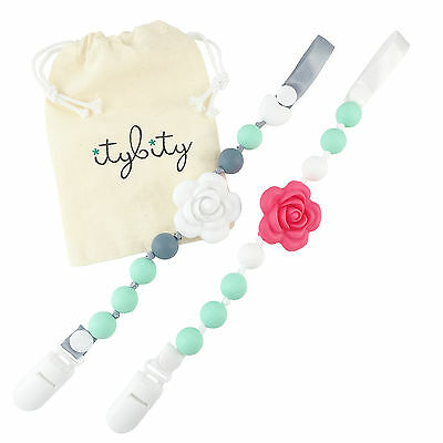 Pacifier Clip Girl Baby Gift Set