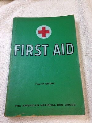 vintage 1957 AMERICAN RED CROSS 4th Edition First Aid BOOK