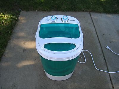 ARKSEN, electric mini portable washing machine, wash/spin, 8.8 lb load, top load
