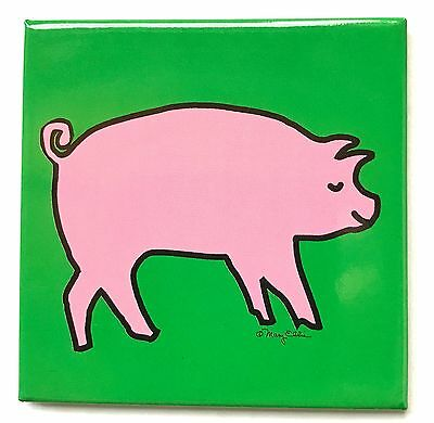 Pig Magnet Farm Country Animal Cute Piggy Refrigerator Fridge Collectible