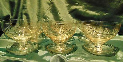 Stunning Art Deco Set 6 Champagne Cut Crystal Coupes - Drip Cathers - Amazing