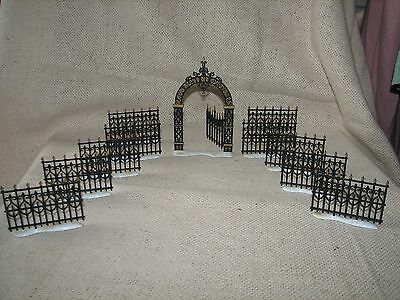 Vintage DEPARTMENT 56 Dickens Village Fence and Gate