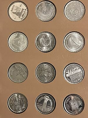1976-2011 Egypt, Lot of 12 Different Silver & Proof 1 Pound, Cheap Price, Unc