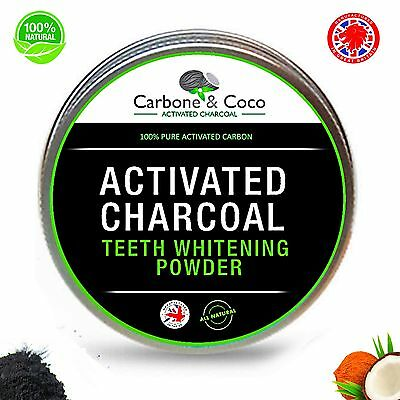 Activated Charcoal Carbon Teeth Stain Remover Powder