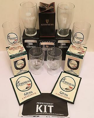 Various Guinness Collectable Glasses Boxed Gilroy Classics etc & Guinness Poster