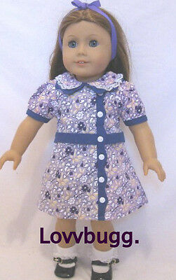"""Purple Floral Dress for American Girl Ruthie Kit 18"""" Doll Clothes  Most Variety"""