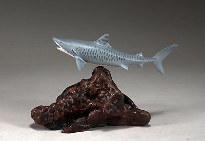 Tiger Shark Figurine New Direct from John Perry Statue Art 8in Long Decor