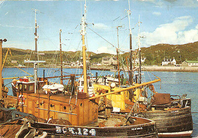 POSTCARD LOCHINVER SUTHERLAND FROM THE PIER c1977