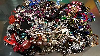 Job Lot costume jewellery necklaces as seen in photos, approx 4.75 kg