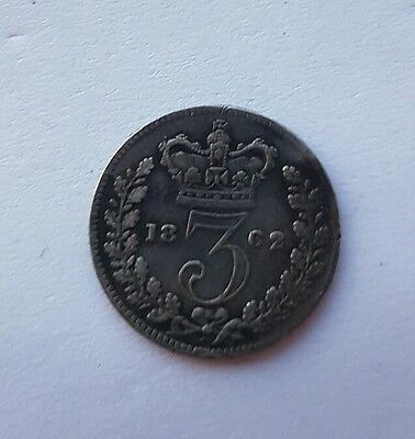 1862 Queen Victoria Silver Threepence