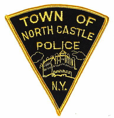 NORTH CASTLE NEW YORK NY Police Sheriff Patch CITY HALL VINTAGE OLD MESH ~