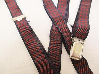 Vintage 70's Mens Braces Trouser Suspenders Skinny Houndstooth Mod Scooter Punk