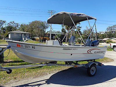 2006 Alumacraft Fisherman 145Cs, Bimini Top, Livewell, 1 Owner, Garage Kept