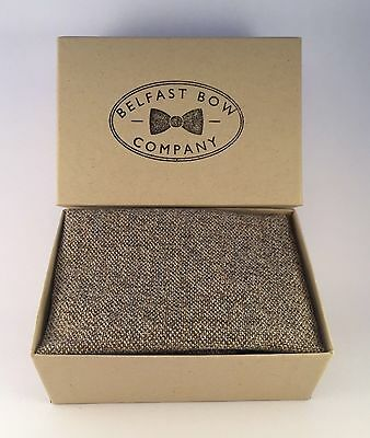 Handmade Pocket Square Hankerchief in Tweed Gift Boxed
