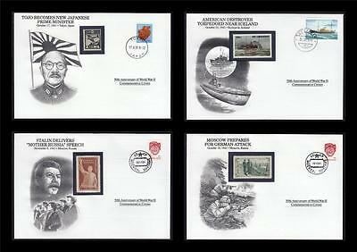 WWII 1941 Danbury 1991 CTO 4 Covers Japan Moscow Destroyer Stalin Russia #W40