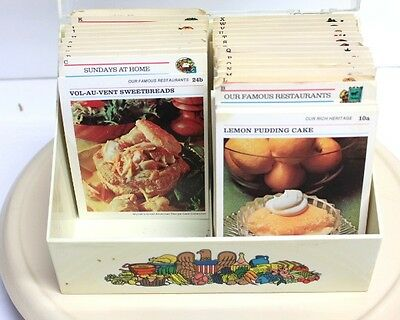 McCalls Great American Recipe Card Collection With Box Vintage 1973