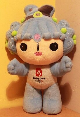 "Official 2008 Beijing Olympic Mascot ""Bei Bei"" Blue Anime Soft Toy Plush 11"""