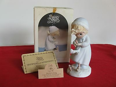 """PRECIOUS MOMENTS """"WINTER'S SONG""""  1985 Limited Edition Olive Branch #12092"""