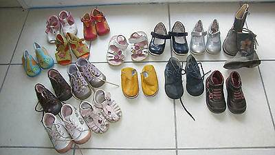 Lot  chaussures fille pointures 17/18/19/20/21