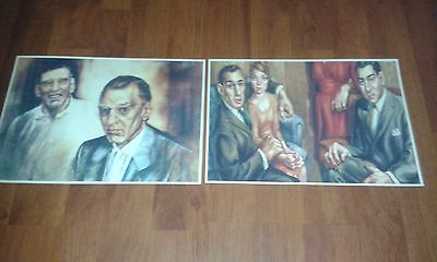 The Krays Art Style Posters - The Krays Twins - Ronnie And Reggie Kray. Gangster