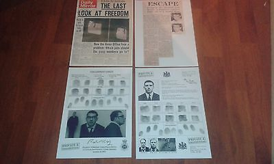 The Kray Twins Fingerprints And Newspaper Articles - Ronnie And Reggie Kray.