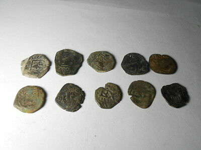 Excellen, Lot of coins Epoca Colonial spanish (10 coins)