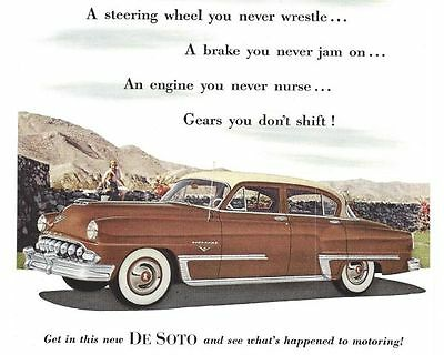 1953 De Soto Vintage Auto Print Ad See What's Happened To Motoring