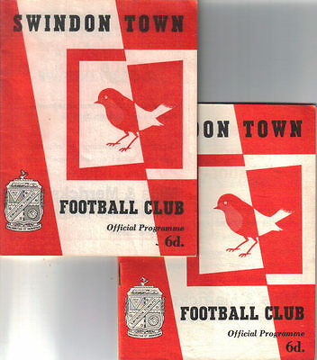 1963/4 Swindon Town v Chelsea (League Cup 2nd round) + Northampton Town