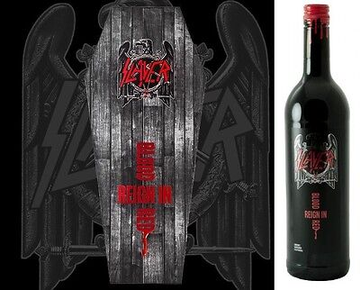 SLAYER - Reign In Blood Red - Red Wine 75cl Coffin Box