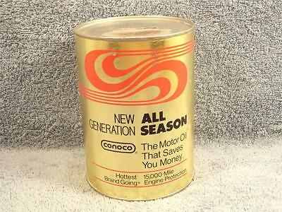 Conoco All Season 1 Quart Motor Oil Can With Bank Slot Top