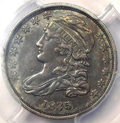 1835 Capped Bust Dime 10C - PCGS AU Detail - Rare Early Date Certified Coin!