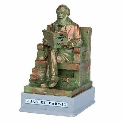 Lemax Christmas Village Charles Darwin Statue Accessory Set House Holiday Figure