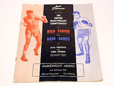 """Boxing Programme – Jack Solomons """"The Empire Middle Weight Championship"""" - 1949"""
