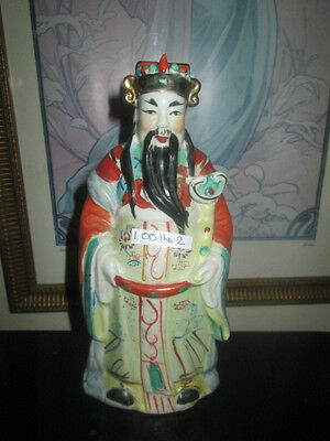 vintage china man figurine in porcelain for luck