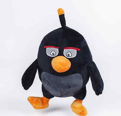 "4.8"" PLUSH ANGRY BIRDS 2 AND BLACK ANGRY SOFT TOY ANGRY BIRDS TOYS Baby gift"