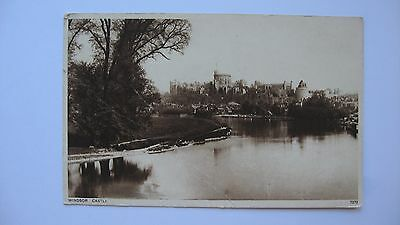 Old Vintage Postcard Windsor Castle Photochrom real photograph
