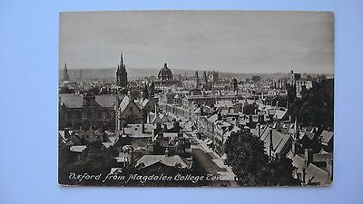 Old Vintage Postcard Oxford from Magdalen College Tower Friths series real photo