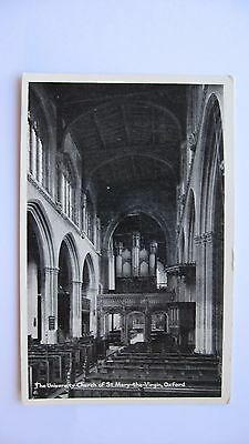 Old Vintage Postcard The University Church of St. Mary-The-Virgin, Oxford