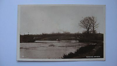 Old Vintage Postcard Reading Bridge Berkshire 1928 real photograph