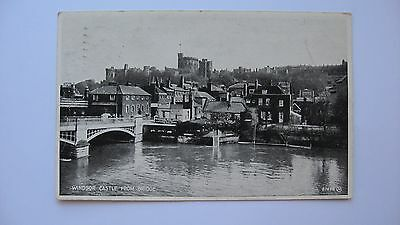 "Old Vintage Postcard Windsor Castle from Bridge Valentines ""Silveresque"" photo"