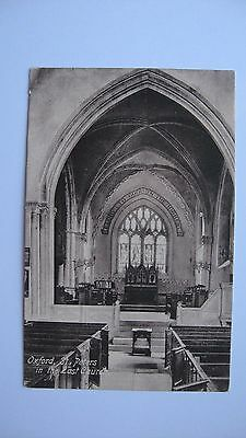 Old Vintage Postcard St. Peter's in the East Church, Oxford. real photograph