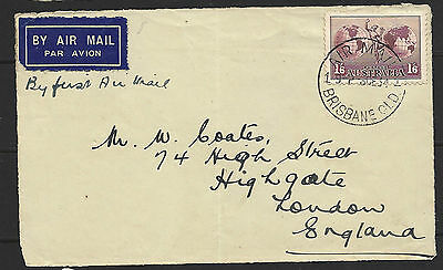 1934 Australia Air Mail Front To England