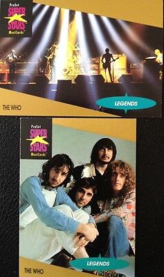 The Who Proset Superstar Musicards 1St Edition 2 Cards Rare Oop (1991)
