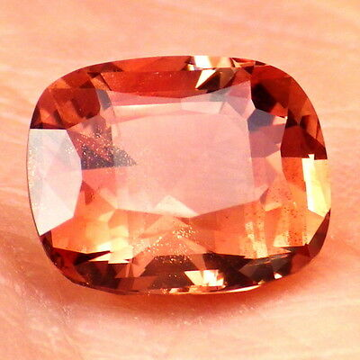 COPPER RED SCHILLER OREGON SUNSTONE 3.62Ct FLAWLESS-FOR TOP JEWELRY!