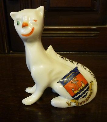 Crested China Cheshire Cat With Crest For Bowness