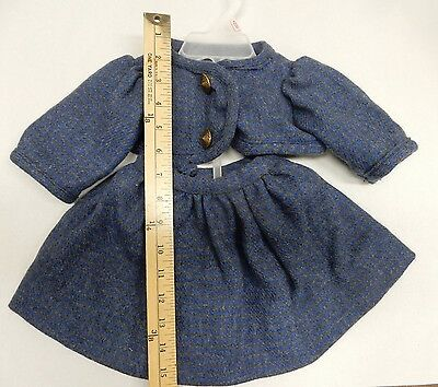 Wool 2 Piece Top and Skirt, Custom Made for Small Child or Large Doll-Beautiful!