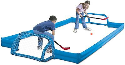 NEW SPORTCRAFT KIDS INDOOR OUTDOOR INFLATABLE HOCKEY ZONE 14 x 7 LARGE GAME