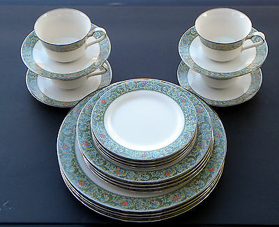 20 PIECE SET ~ ISOLDE by NORITAKE 4 X 5 PIECE PLACE SETTINGS Dinner for 4 or 8