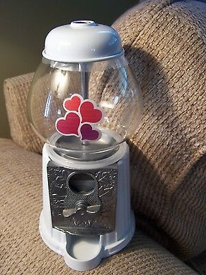 NIB M&M's World Metal and Glass Bubble Gum Machine Candy Dispenser NEW