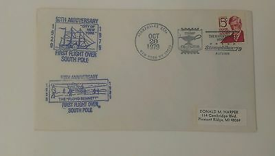 Event cover 50 yr anniv. 1st flight over South Pole    Stamphilex Station NY  NY